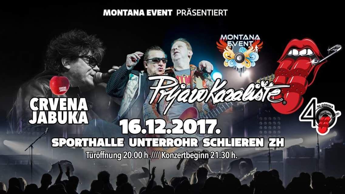 Crvena Jabuka & Prljavo kazalište @ Sporthalle Unterrohr | Schlieren | Zürich | Switzerland