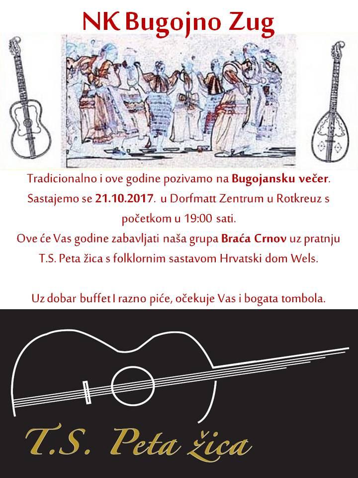 Bugojanska večer @ TTC Rotkreuz, Turnhalle Dorfmatt | Risch-Rotkreuz | Zug | Switzerland