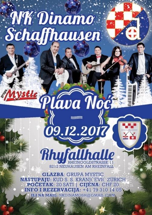 NK Dinamo Schaffhausen Vas poziva na proslavu Plave noći