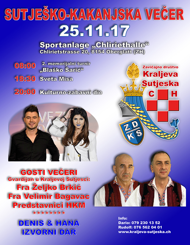 Sutješko-Kakanjska večer @ Sportanlage Chliriethalle   Oberglatt   Zürich   Switzerland