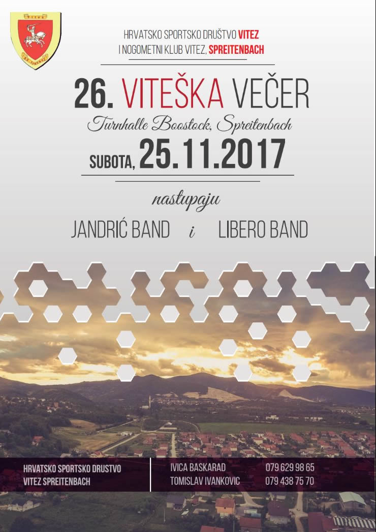 Viteška večer @ Boostock Turnhalle   Spreitenbach   Aargau   Switzerland