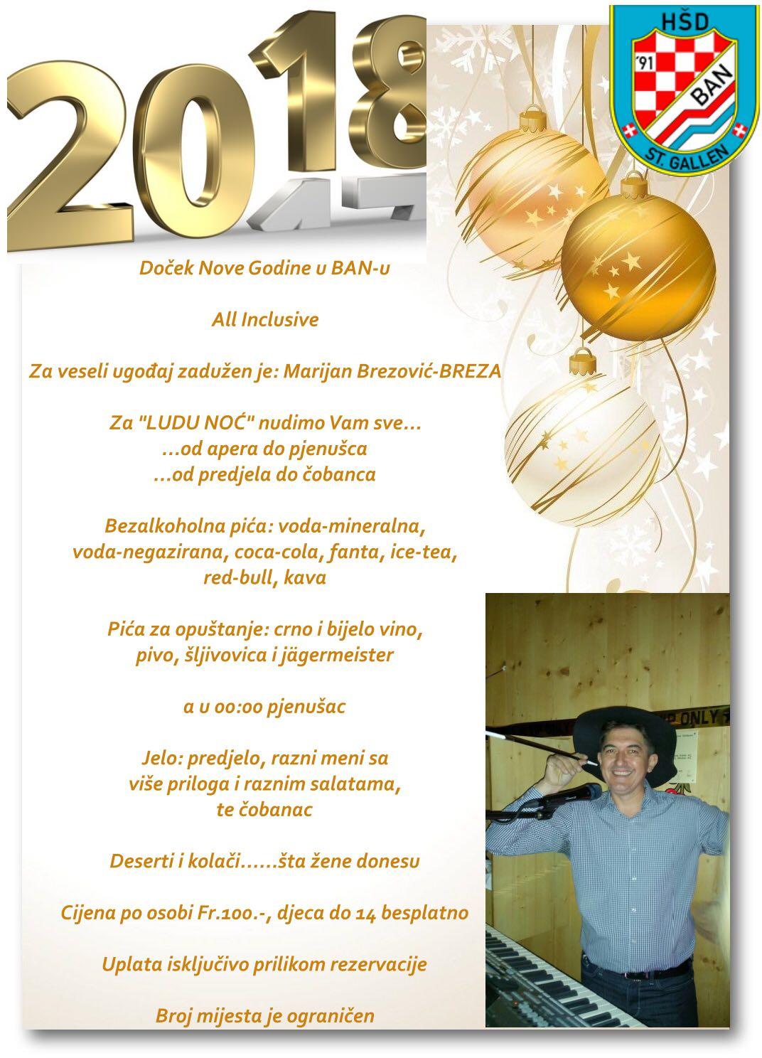 Doček Nove Godine u BAN-u @ Restaurant Kreuz-Winkeln | St. Gallen | Sankt Gallen | Switzerland
