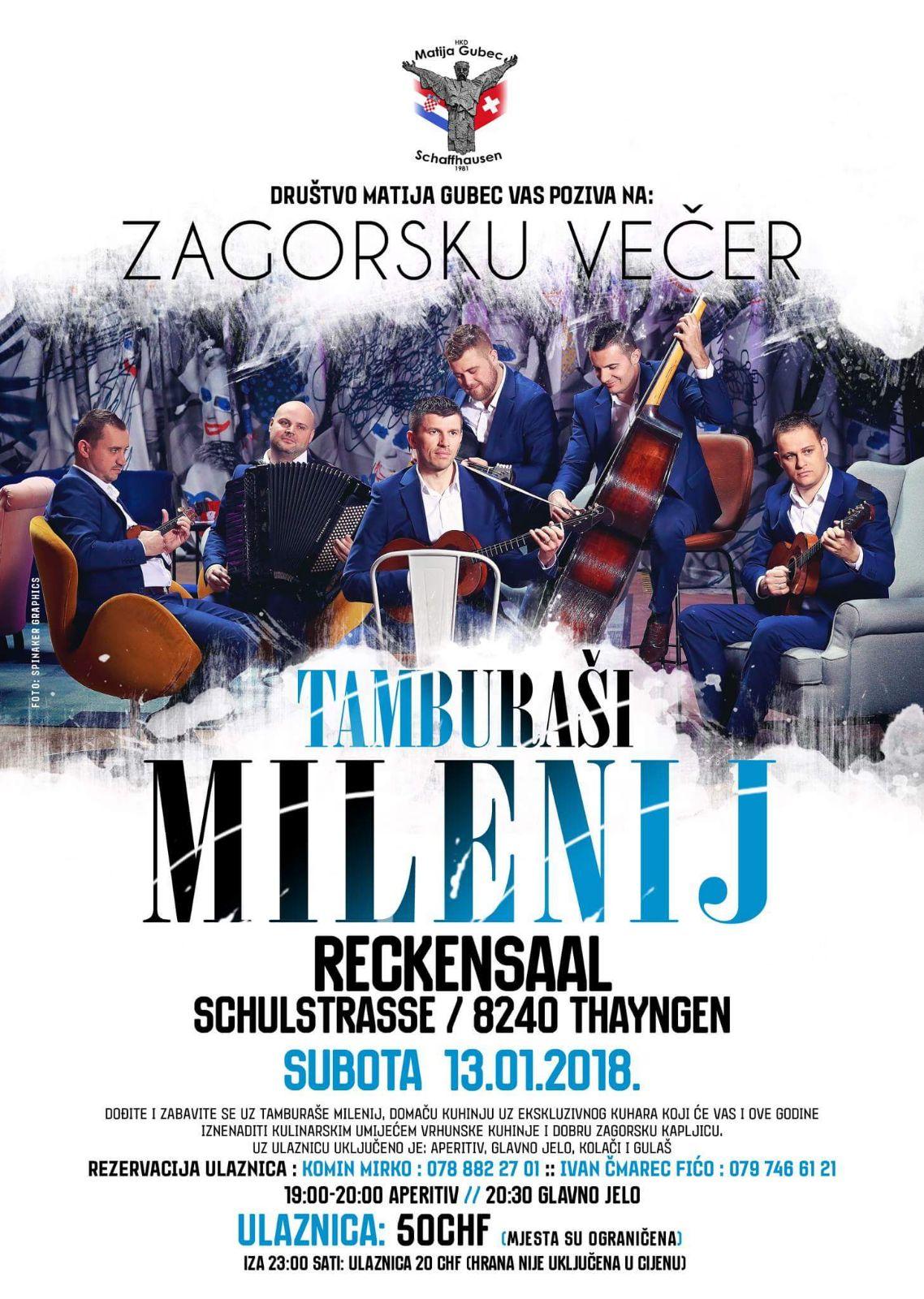 Zagorska večer @ Reckensaal | Thayngen | Schaffhausen | Švicarska