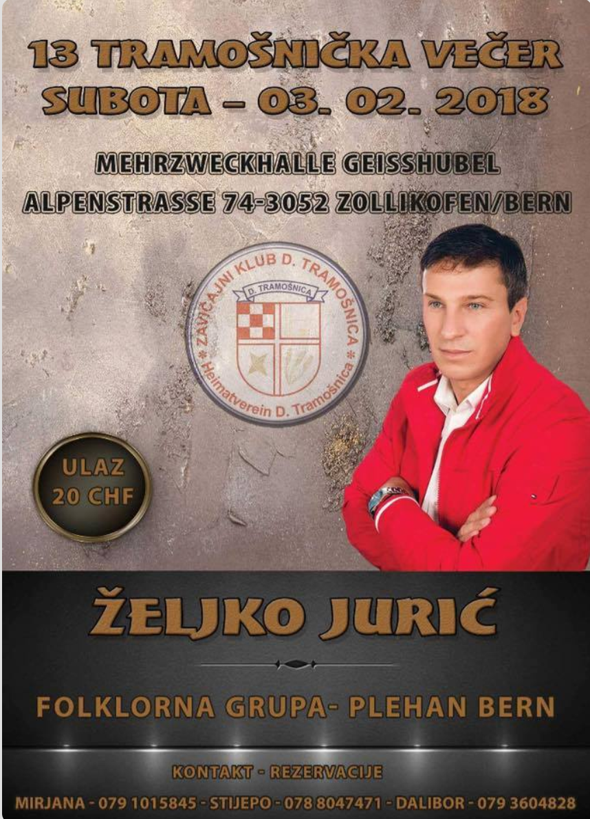 13 Tramošnička večer @ Mehrzweckhalle Geisshubel | Zollikofen | Bern | Švicarska