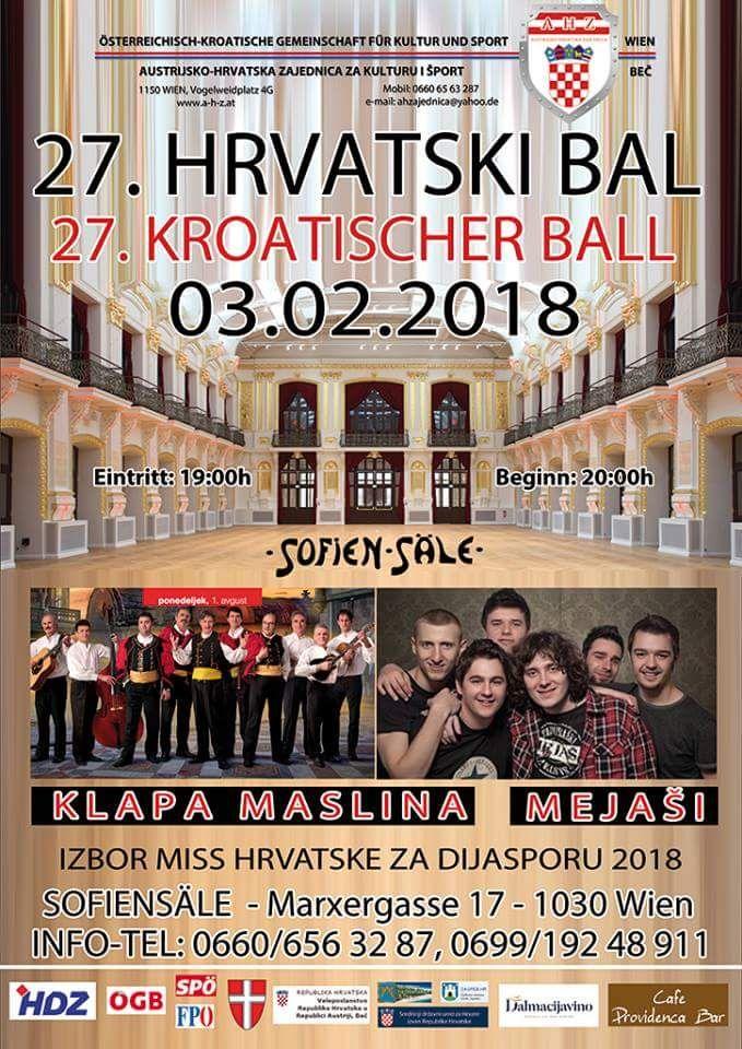 27. Hrvatski bal @ Sofiensäle | Wien | Wien | Austria