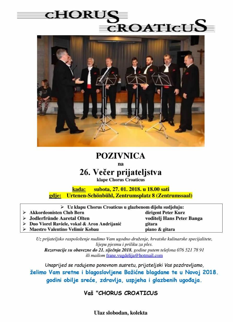 Chorus Croaticus @ Zentrumssaal | Urtenen-Schönbühl | Bern | Switzerland
