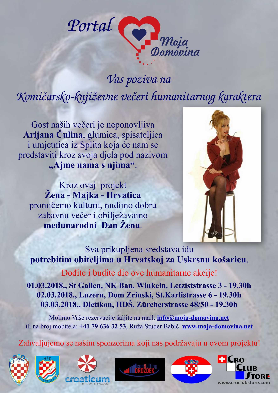 Komičarsko-književna večer humanitarnog karaktera @ Dom Zrinski | Luzern | Luzern | Schweiz