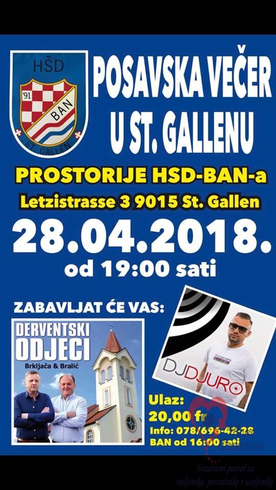 POSAVSKA VEČER @ HSD Ban | St. Gallen | Sankt Gallen | Schweiz