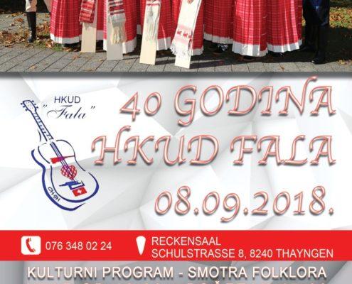 Jubilarna zabava - 40 godina HKUD Fala @ Reckensaal  | Thayngen | Schaffhausen | Schweiz