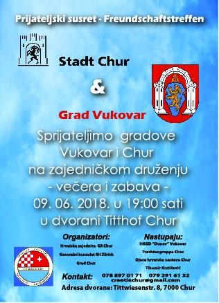 Vukovar i Chur: susret gradova - prijatelja @ Dvorana Tithoff Chur | Chur | Graubünden | Switzerland
