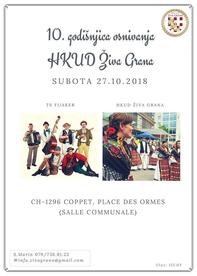 10. obljetnica HKUD-a Živa Grana @ SALLE COMMUNALE | Coppet | Vaud | Switzerland