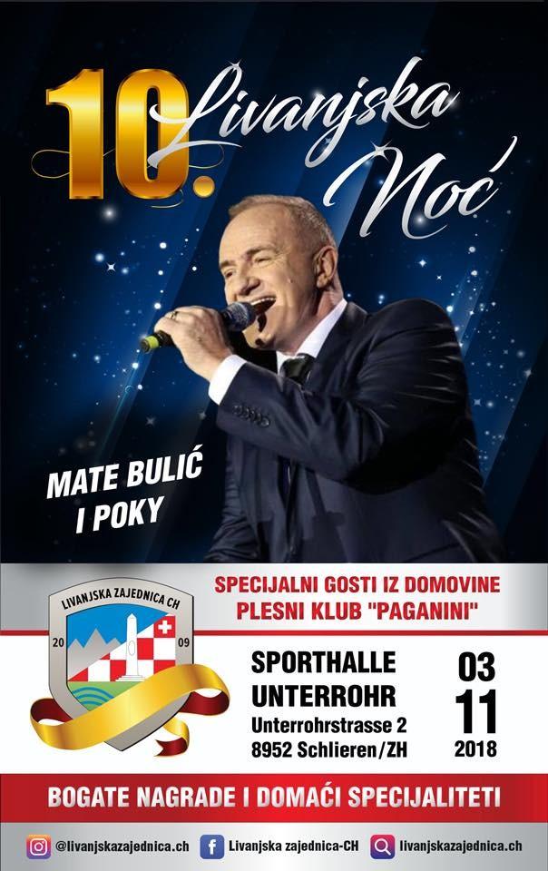 10. Livanjska Noć @ Sporthalle Unterrohr | Schlieren | Zürich | Switzerland