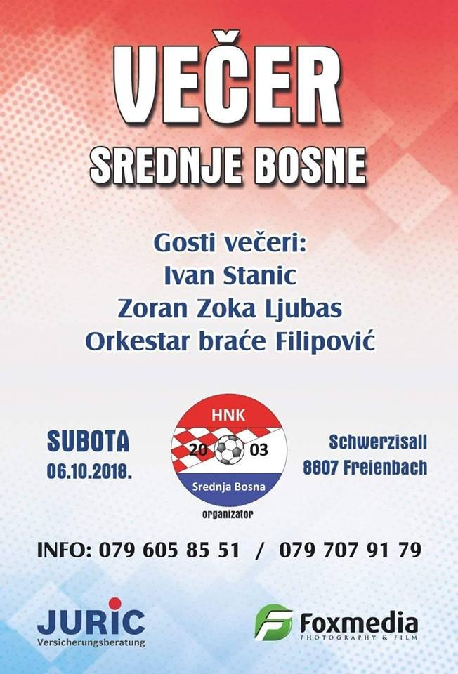 Večer Srednje Bosne @ Schwerzisaal | Freienbach | Schwyz | Switzerland