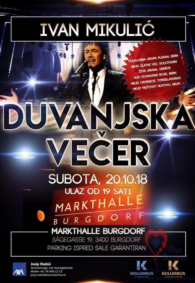 Duvanjska večer @ Markthalle Burgdorf | Burgdorf | Bern | Švicarska