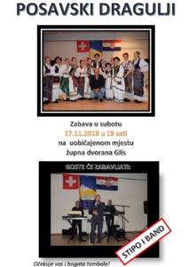 Zabava Posavskih dragulja @ Župna dvorana  | Glis | Wallis | Switzerland