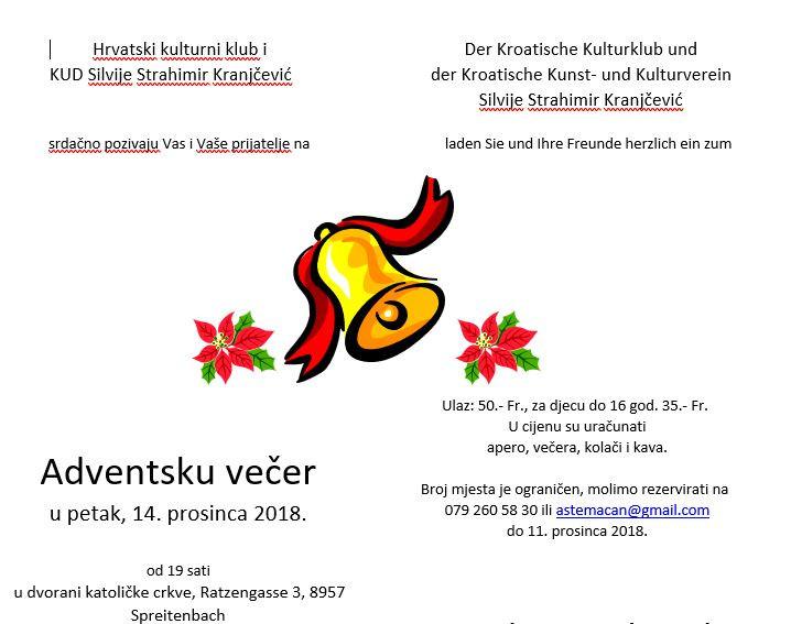 Adventska večer @ Dvorana kat. crkve | Spreitenbach | Aargau | Švicarska