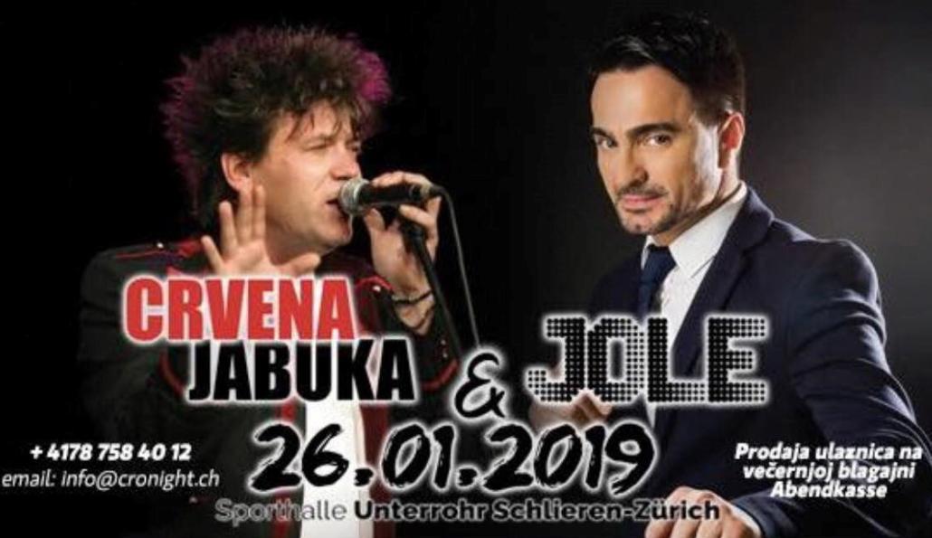 Koncert Jole & Crvena Jabuka @ Unterrohr Sporthalle | Schlieren | Zürich | Switzerland