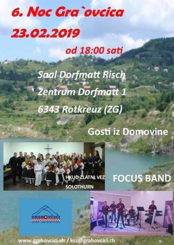 6. Noć Gra'ovčića @ Zentrum Dorfmatt 1 | Rotkreuz ZG | Zug | Švicarska