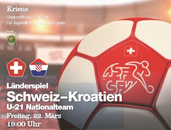 Utakmica U21 Švicarska - Hrvatska @ Sportplatz Kleinfeld | Luzern | Luzern | Švicarska