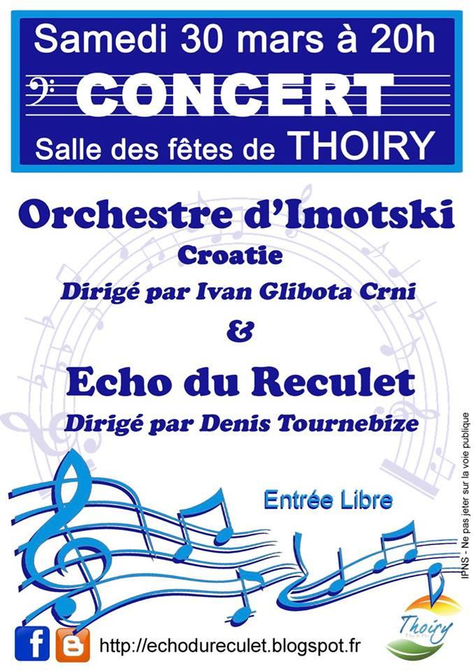 Koncert Imotskog orkestra @ Salle de Thoiry | Thoiry | Île-de-France | France