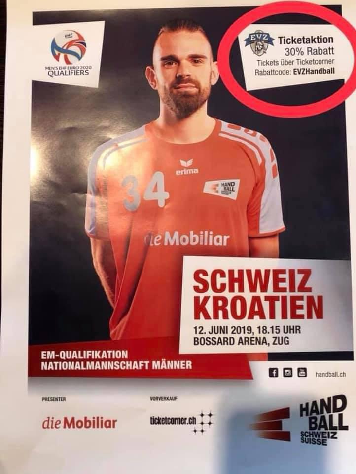 Rukometna utakmica za kvalifikacije @ Bossard Arena | Zug | Zug | Švicarska