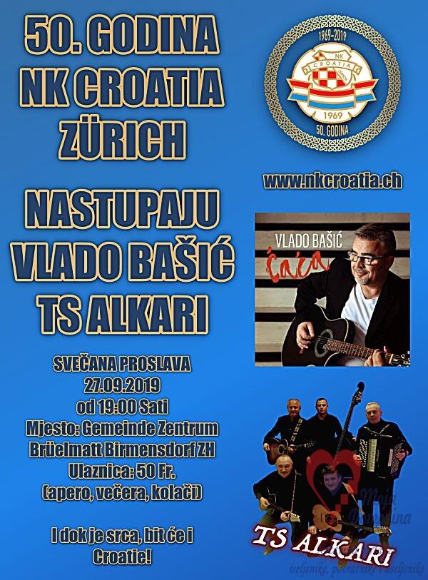 Proslava 50. godina NK Croatije @ Gemeindezentrum Brüelmatt | Birmensdorf | Zurich | Švicarska