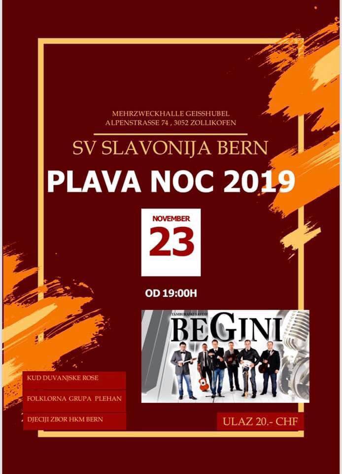 Plava noć Slavonije Bern @ Mehrzweckhalle Geisshubel | Zollikofen | Bern | Switzerland