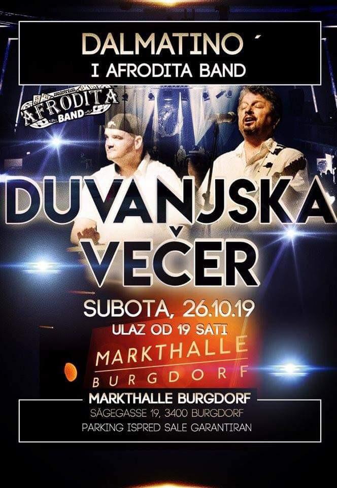 DUVANJSKA VEČER @ Markthalle | Burgdorf | Bern | Switzerland