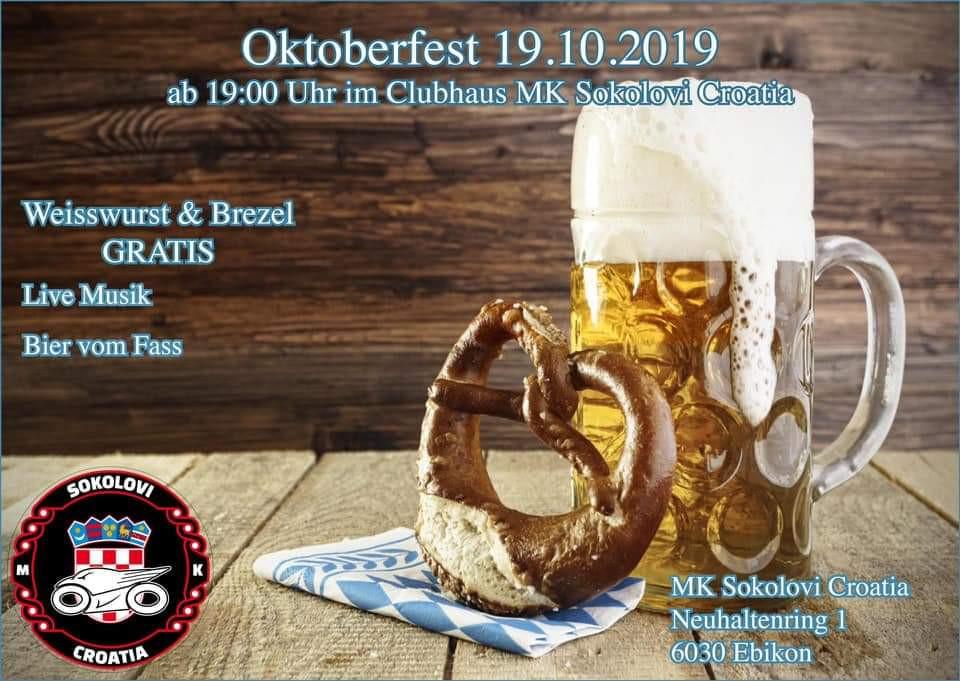 Oktoberfest MK Sokolovi @ Clubhaus MK Sokolovi | Ebikon | Luzern | Švicarska