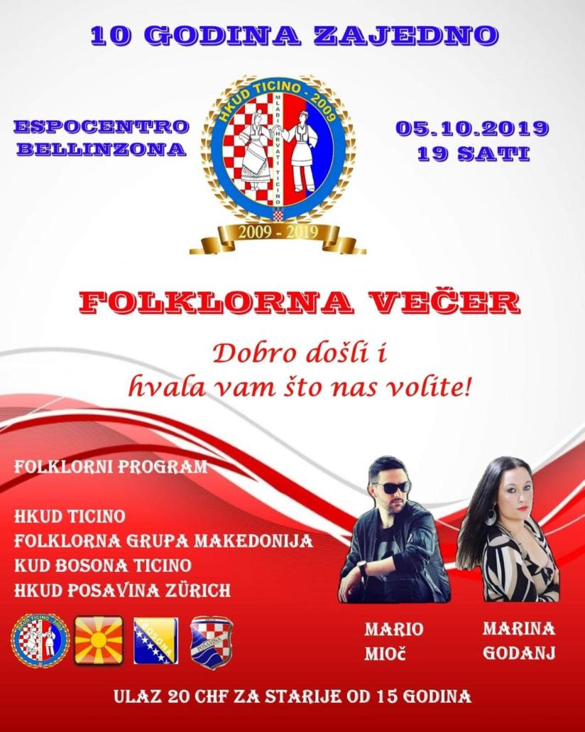 Folklorna večer @ Espocentro | Bellinzona | Ticino | Švicarska