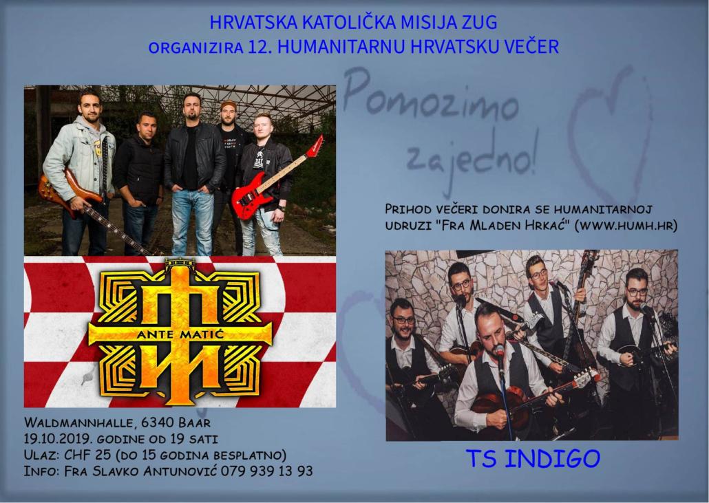 12. Hrvatska večer u Zugu @ Waldmannhalle  | Baar | Zug | Švicarska