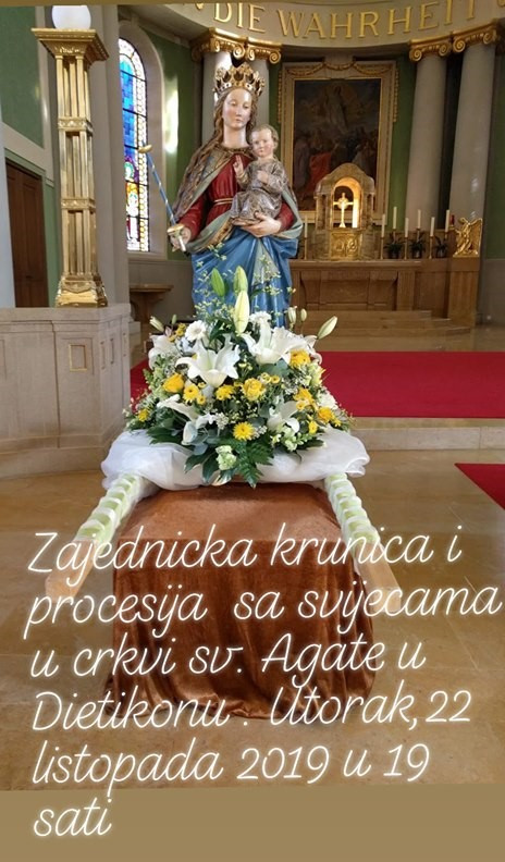 Krunica i procesija sa svijećama @ St. Agatha Kirche | Dietikon | Zürich | Švicarska