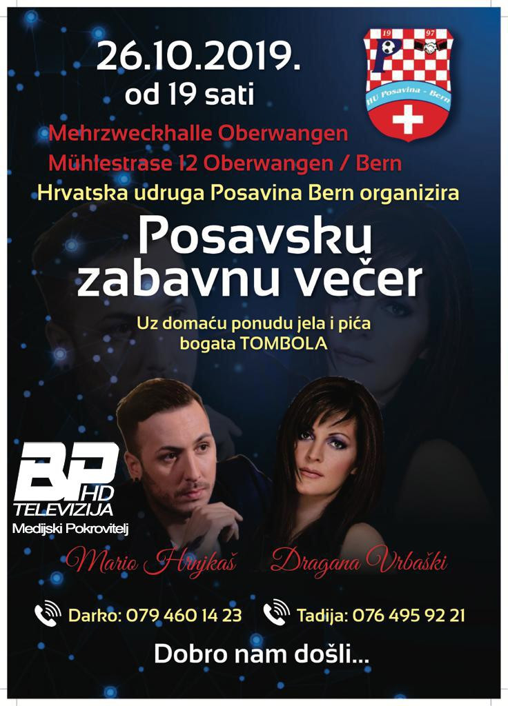 Posavska zabavna večer Oberwangen/Bern @ Mehrzweckhalle Oberwangen | Köniz | Bern | Switzerland