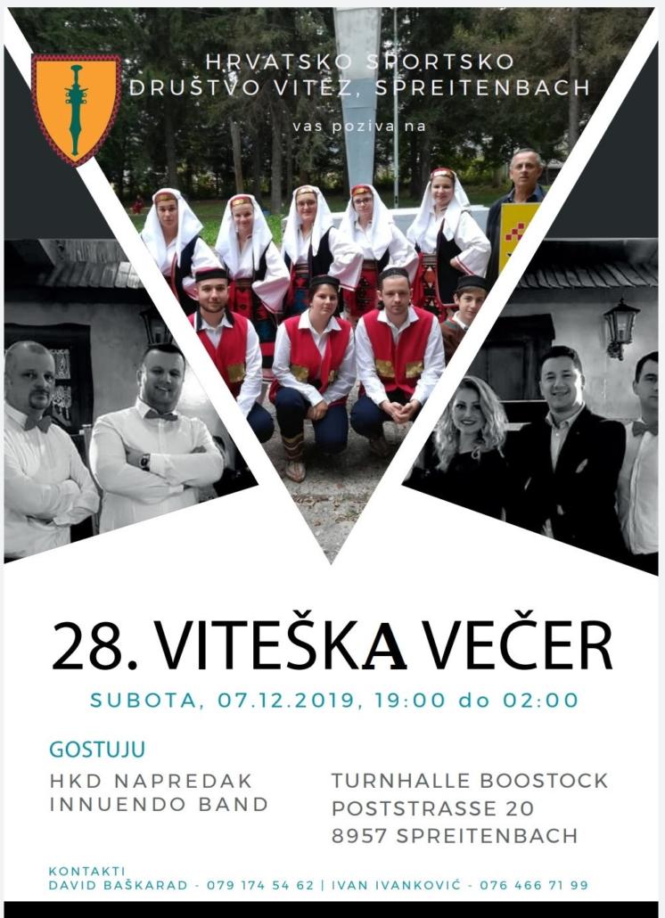 28. Viteška večer @ Turnhalle Bostoock | Spreitenbach | Aargau | Švicarska