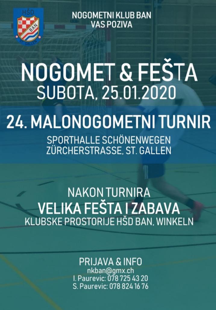 Malonogometni turnir i zabava NK Ban St. Gallen