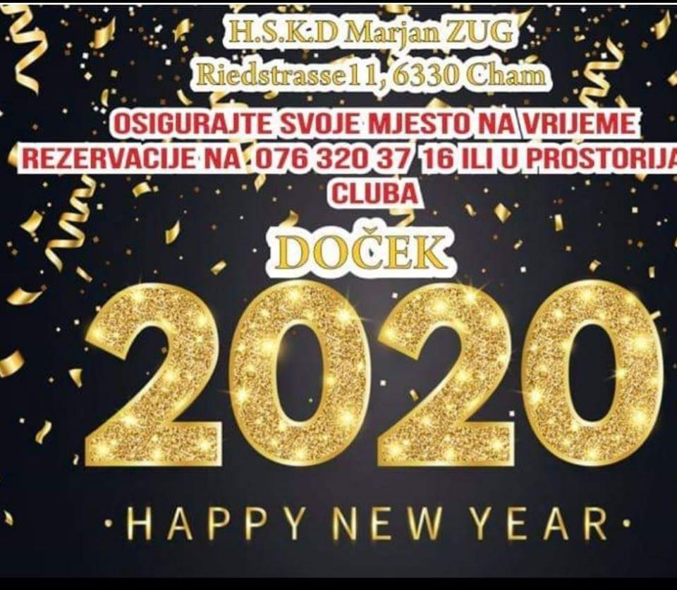 Doček Nove godine - Marjan Zug @ HSKD Marjan Zug | Cham | Zug | Switzerland
