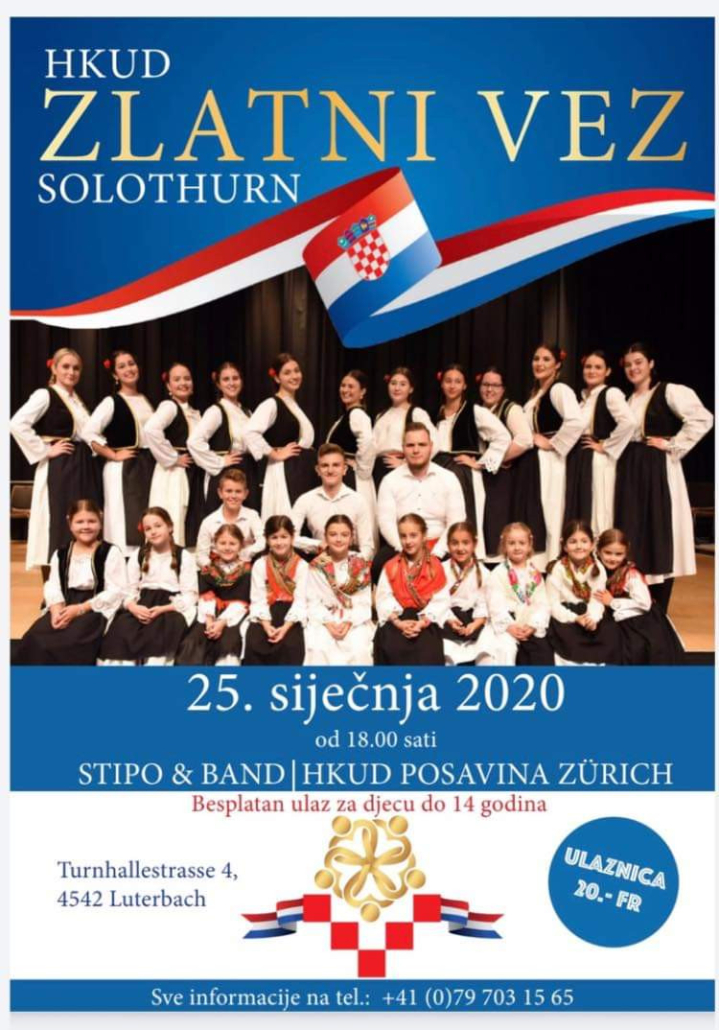 Zabava HKUD-a Zlatni Vez Solothurn @ Sportstka dvorana  | Luterbach | Solothurn | Switzerland