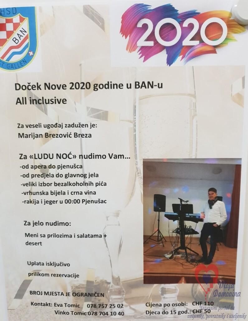 Doček Nove godine u St. Gallenu @ Dvorana HSD Ban | St. Gallen | Sankt Gallen | Switzerland