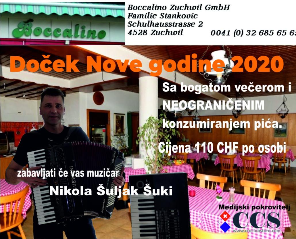 Doček Nove godine, Boccalino Zuchwil