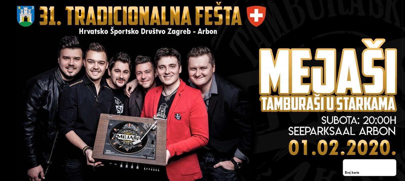 Tradicionalna zabava HŠD Zagreb Arbon @ Seeparksaal Arbon | Arbon | Thurgau | Schweiz