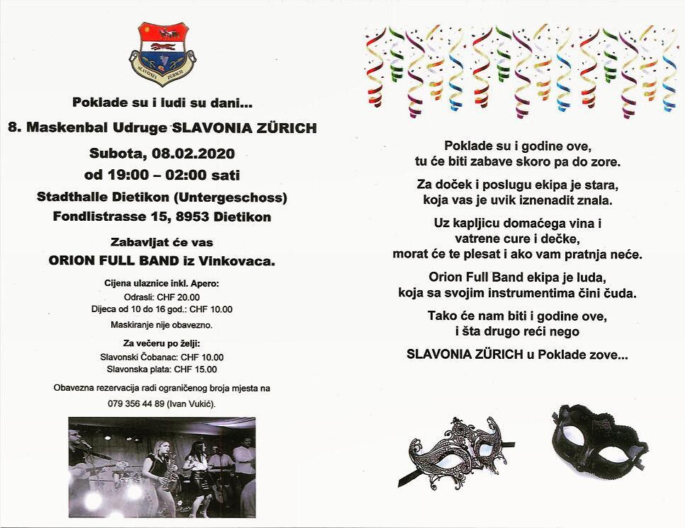 Poklade Slavonia Zürich @ Stadthalle Dietikon | Dietikon | Zürich | Schweiz