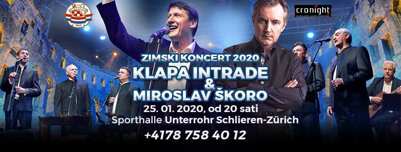 Zimski koncert 2020. - Klapa Intrade i Miroslav Škoro @ Sporthalle Unterrohr | Schlieren | Zürich | Switzerland